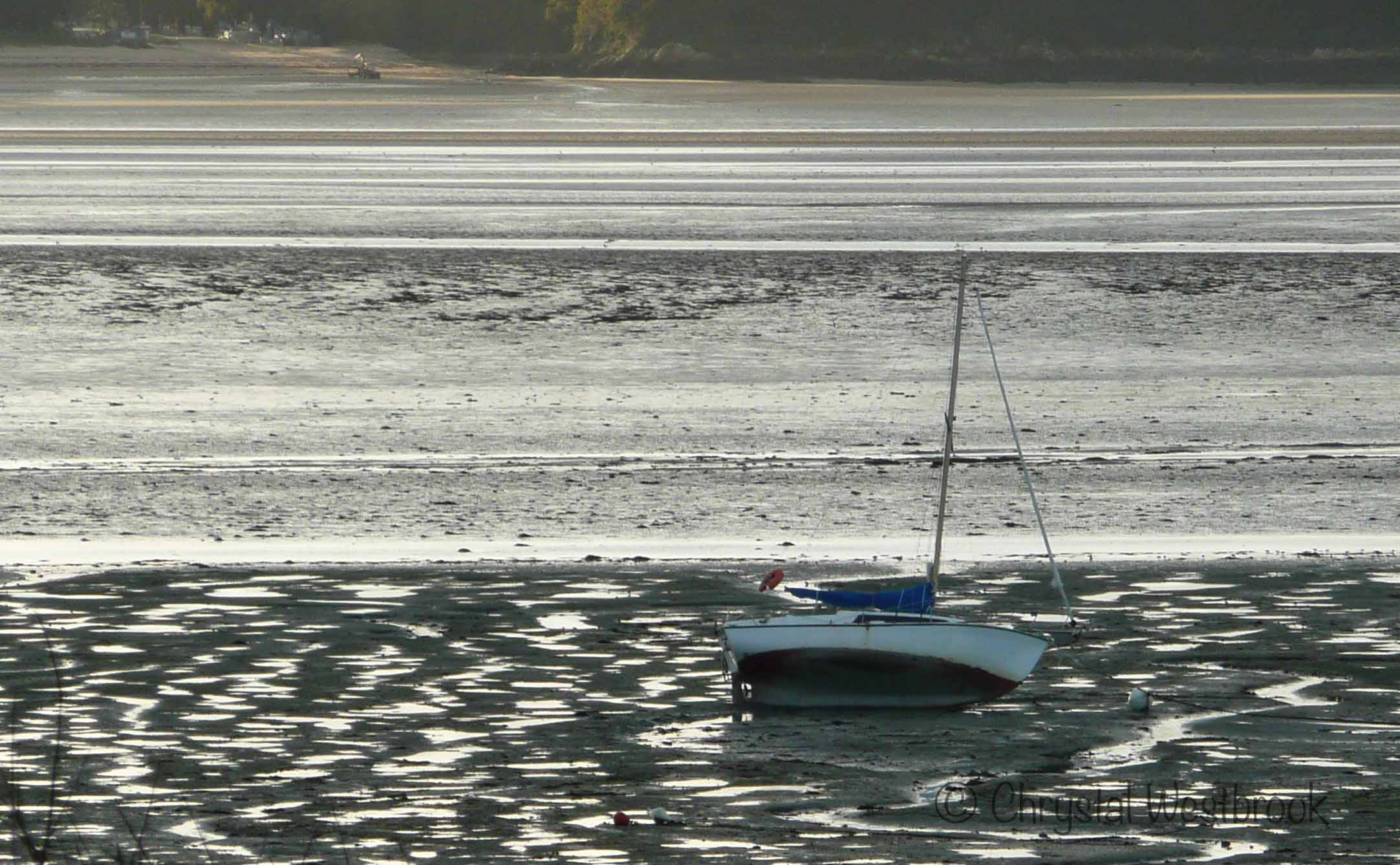 [IMAGE] Sailboat aground at low tide