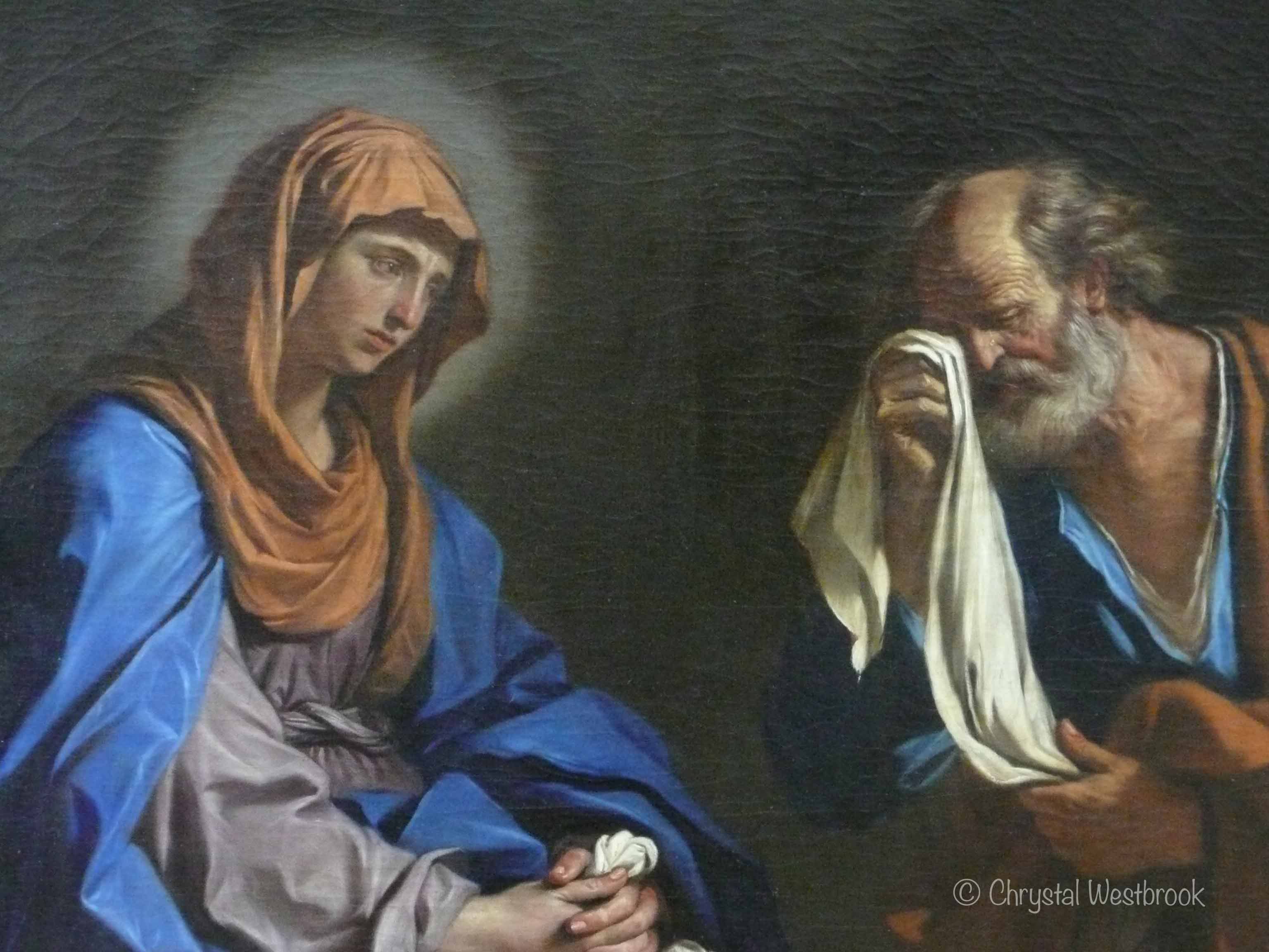[IMAGE] painting of an older man in tears asking forgiveness of a young woman