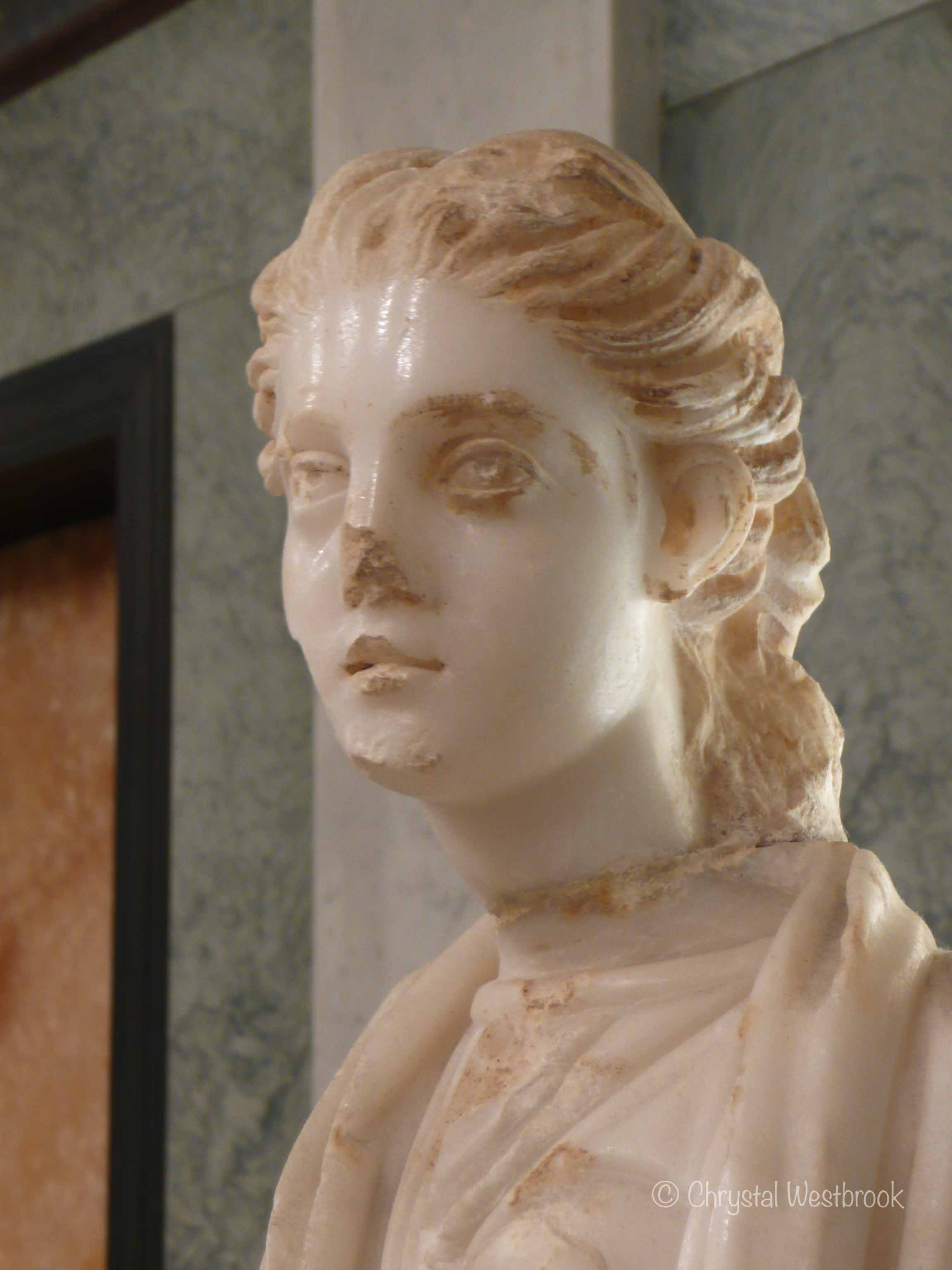 [IMAGE] Alabaster statue of a young woman