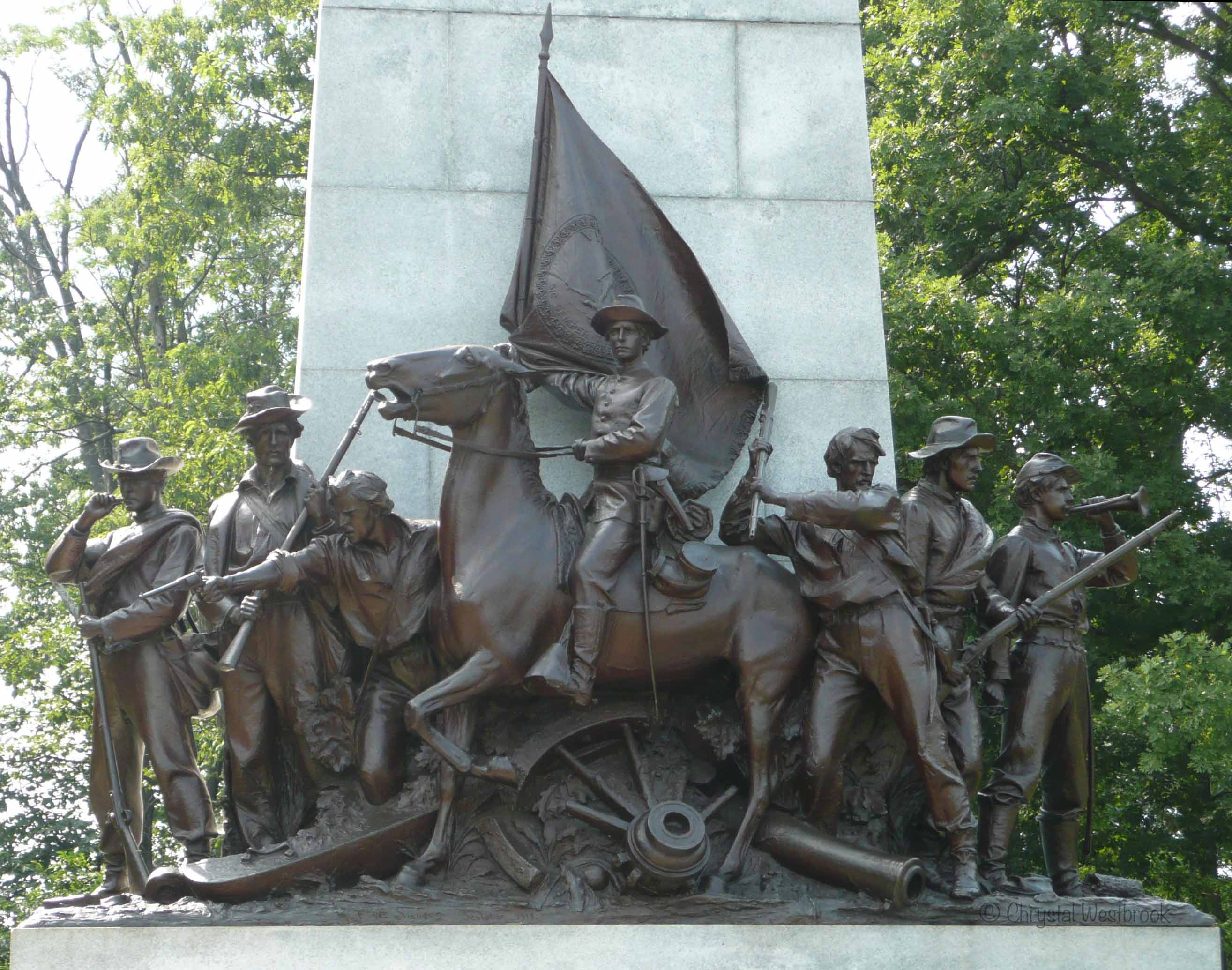 [IMAGE] Statue of a Civil War era group of soldiers