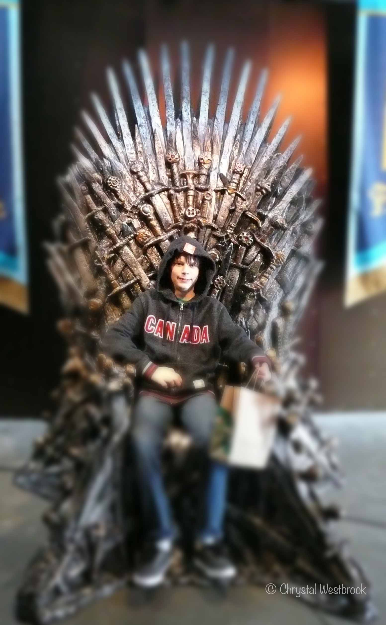 [IMAGE] Boy on a throne